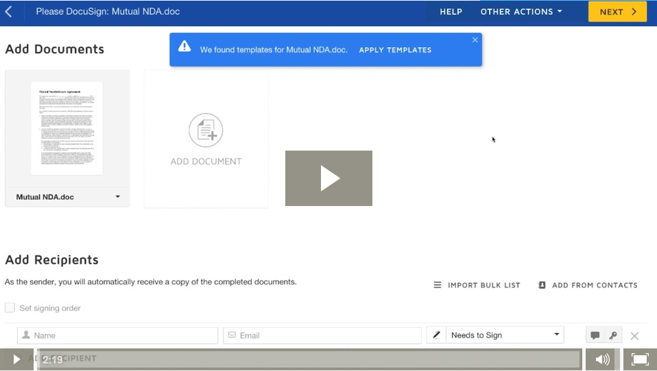 DSU Video Tip: Template Matching | DocuSign Community