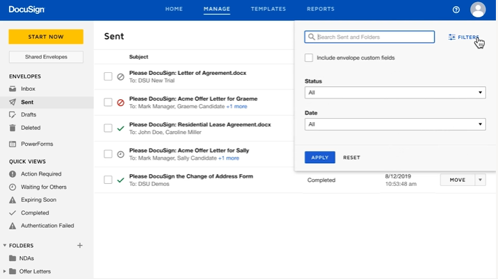 Manage DocuSign Envelopes video