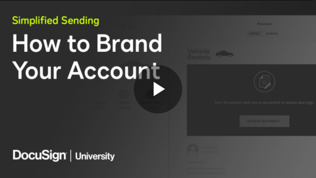 How to brand your account video