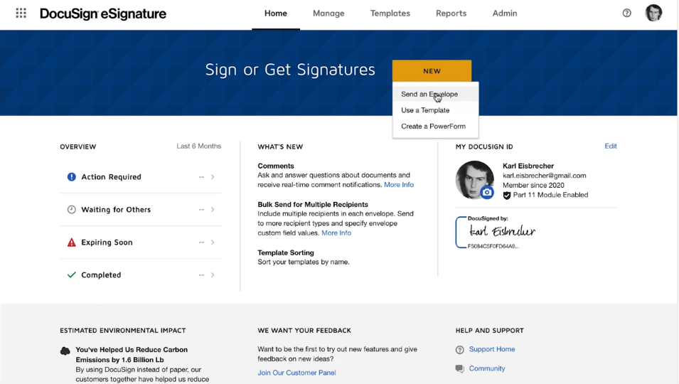 Video: USend a CFR Part 11 Envelope with DocuSign