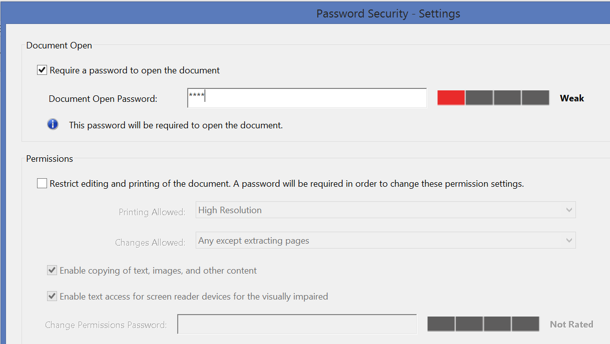 Remove Access Password in Adobe 2