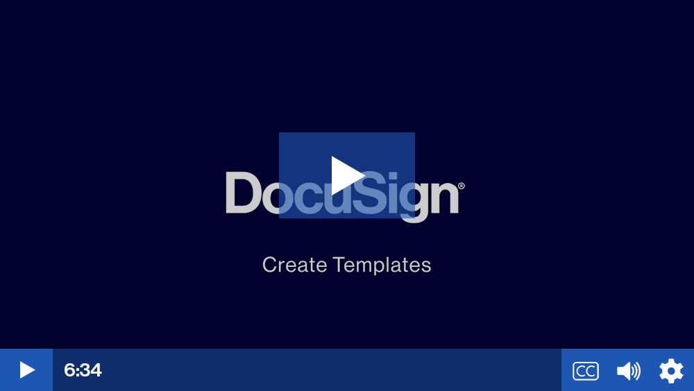 Play video: Create a Template