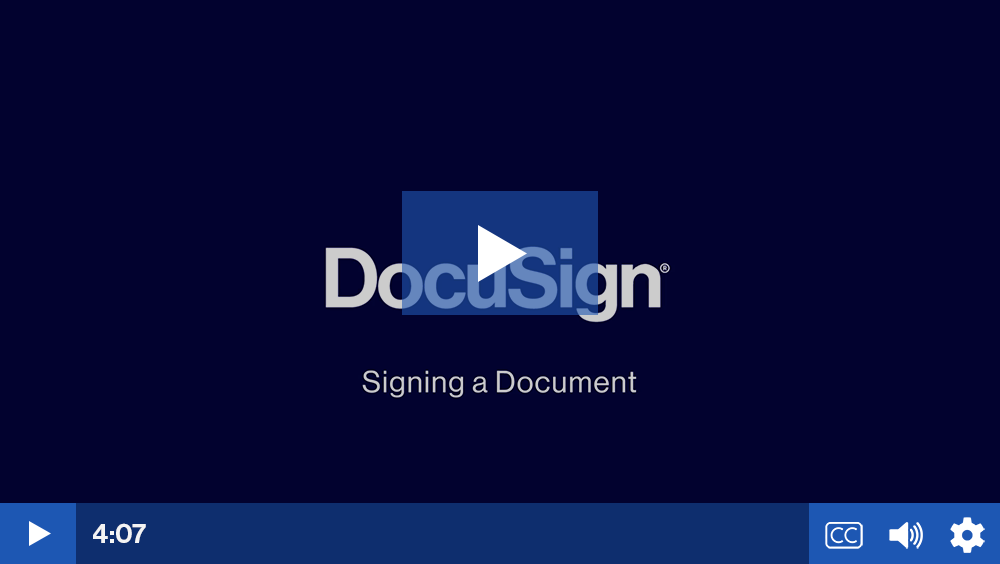 Play video: Sign a Document