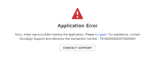 Application Error Transaction Id