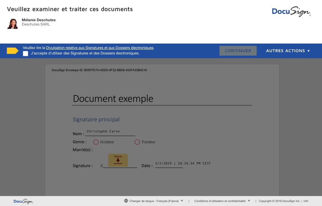 signer et dater des documents bons endroits pour brancher en public