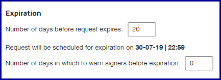 Advanced Options - Expiration Settings