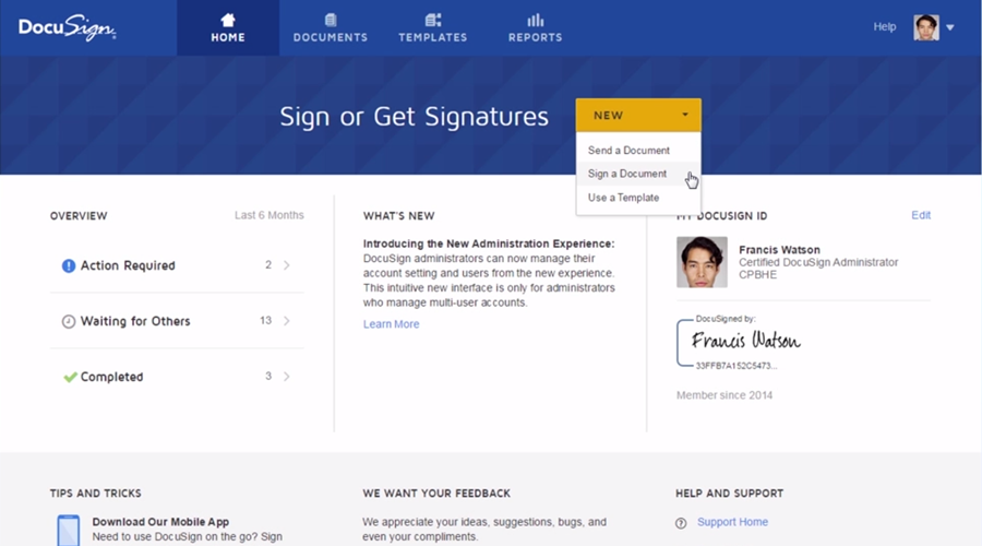 Video:Sign a Document