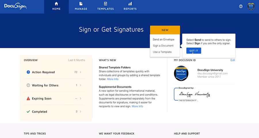 DocuSign Tour