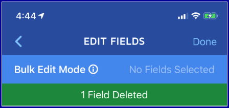 iOS App - Delete fields completed