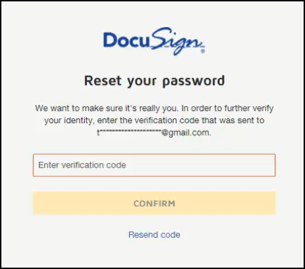 verification code confirmation