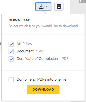 Download completed envelope/document