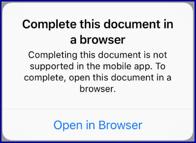 Error: Complete this document in a browser
