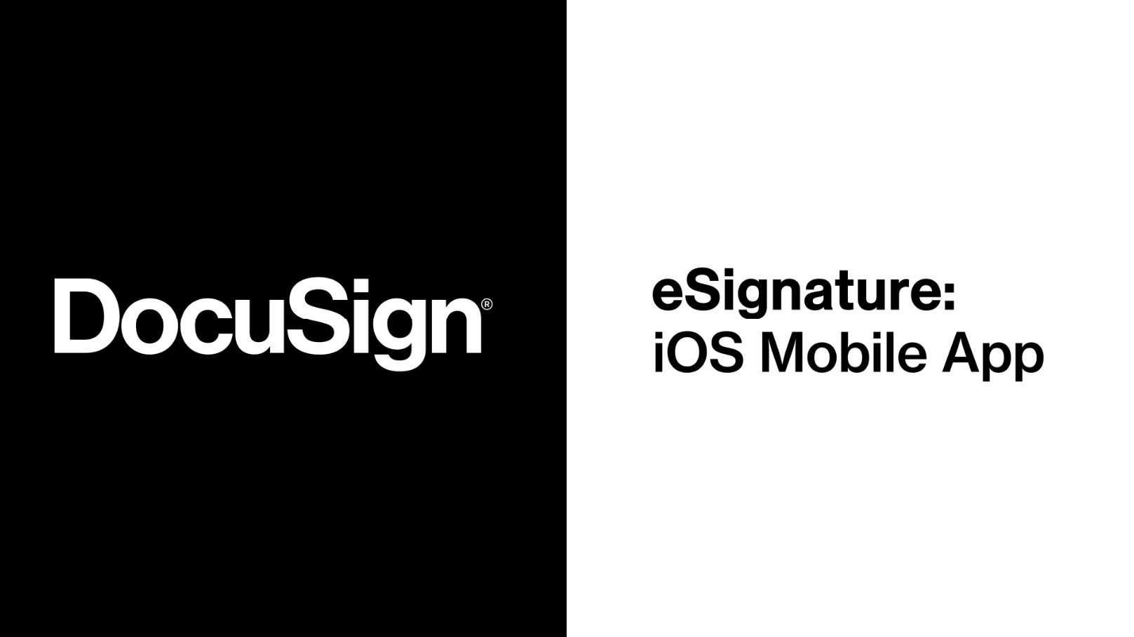 DocuSign iOS Mobile App Overview
